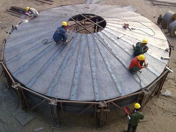 泰山螺旋式钢板仓